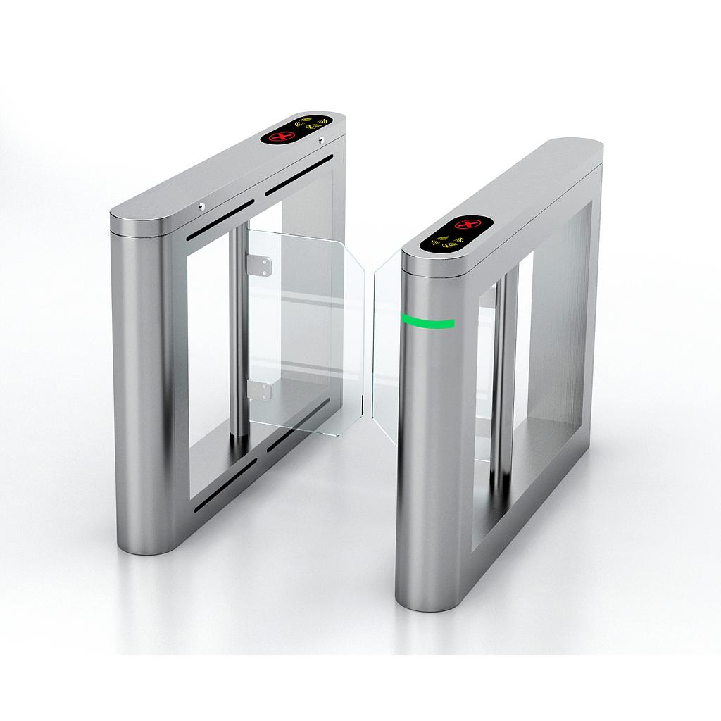 Bi-directional Stainless Steel Swing Turnstile with acrylic arms