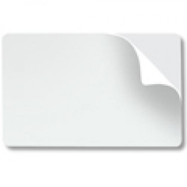 Self Adhesive White Plastic card 10 mil (Ultra white).