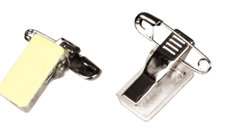 Self-adhesive pin/clip combo