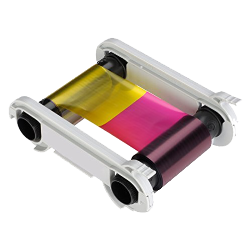 5 panel color ribbon HALF-YMCKO for Evolis printers
