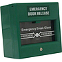 Break glass fire emergency exit button